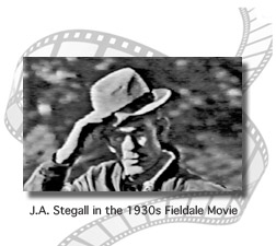J.A. Stegall still image from the 1930s Fieldale Movie