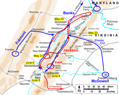 Map Battle of Front Royal